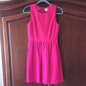 J.Crew HOT Pink Dress XS NWT